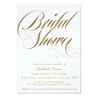 Glitter Bridal Shower Invitation