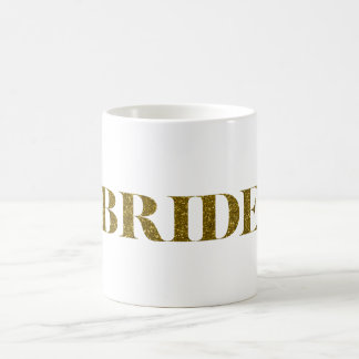 Glitter Bride Gold Classic White Coffee Mug