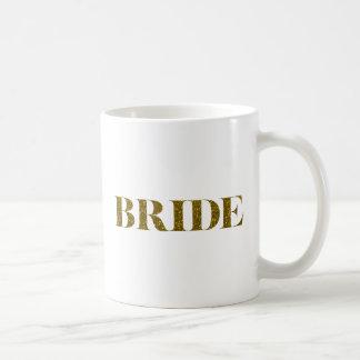 Glitter Bride Gold Coffee Mug