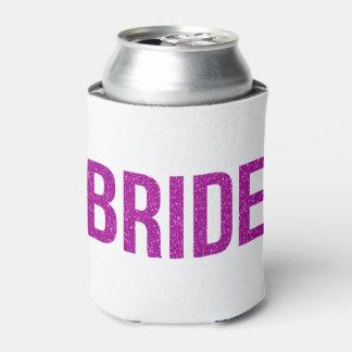 Glitter Bride Pink Can Cooler