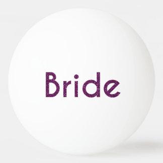Glitter Bride Purple Ping Pong Ball