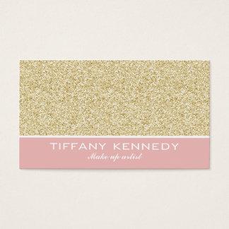 Glitter business card / make up artist business