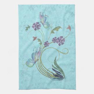Glitter Butterflies Kitchen Towel