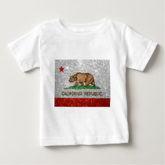 Glitter California Republic Flag Baby T-Shirt