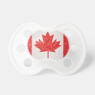 Glitter Canada flag baby pacifier