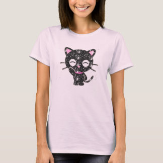 glitter cat T-Shirt