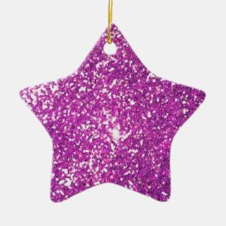 glitter ceramic star ornament