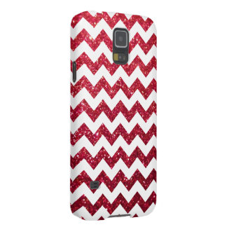 Glitter Chevron Red Cases For Galaxy S5