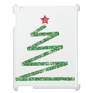 Glitter Christmas tree Case For The iPad 2 3 4