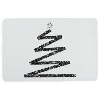 Glitter Christmas tree Floor Mat