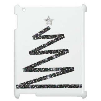 Glitter Christmas tree iPad Cover