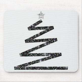 Glitter Christmas tree Mouse Pad