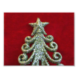 Glitter Christmas tree Photo Print