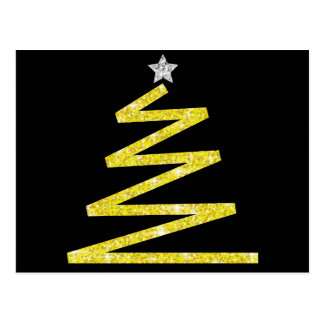 Glitter Christmas tree Postcard