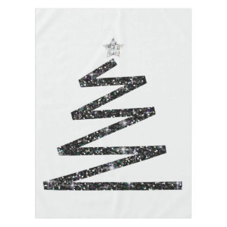 Glitter Christmas tree Tablecloth