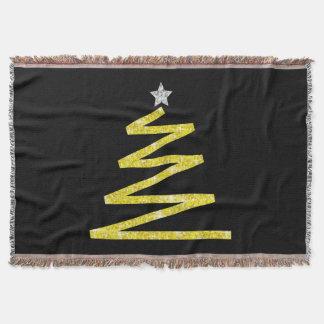 Glitter Christmas tree Throw Blanket