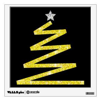 Glitter Christmas tree Wall Sticker