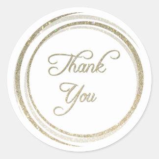 Glitter Circles Thank You Sticker