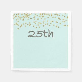 Glitter Confetti 25th Napkin