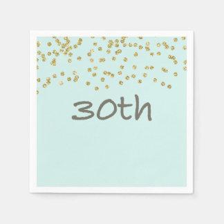 Glitter Confetti 30th Paper Napkin