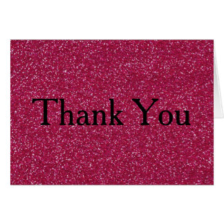 Glitter Confetti Faux Foil Thank You Card
