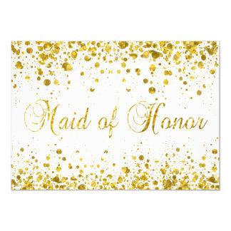 Glitter Confetti | Maid of Honor Card