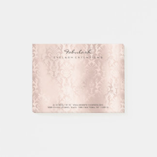 Glitter Damask Name Web Telephone Number Pink Post-it Notes