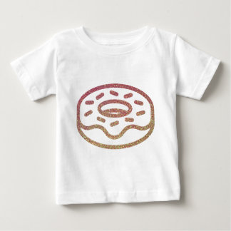 Glitter donut with sprinkles baby T-Shirt