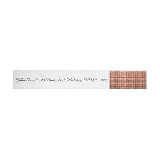 Glitter Earthtone Tartan Plaid Wraparound Address Label