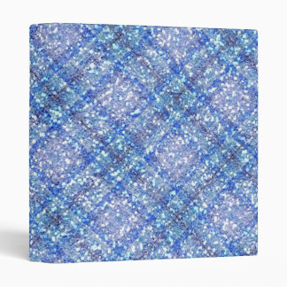 Glitter Effect Blue Tartain Plaid Vinyl Binder