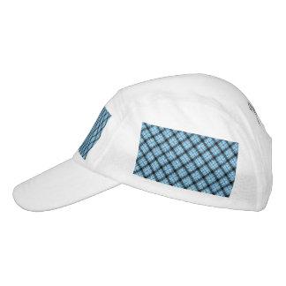 Glitter Effect Blue Tartan Plaid Headsweats Hat
