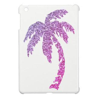 Glitter Effect Purple Palm Tree iPad Mini Case