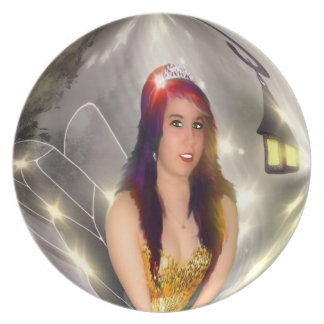 Glitter Fairy Dinner Plates