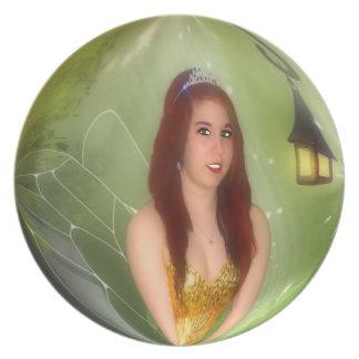 Glitter Fairy Plate