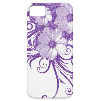 Glitter Floral Vines & Flowers In Purple iPhone 5 Case