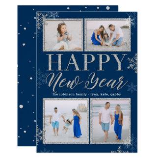 Glitter Frames EDITABLE COLOR New Year Photo Card