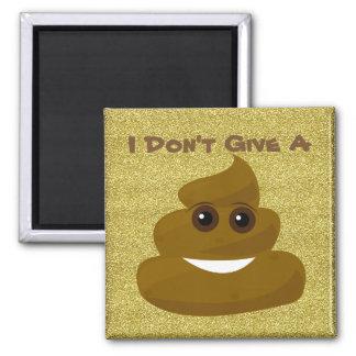 Glitter Give A Poo Emoji Magnet