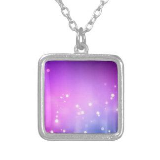 Glitter Glam Elegant Invitation RSVP Sparkle Art Necklace