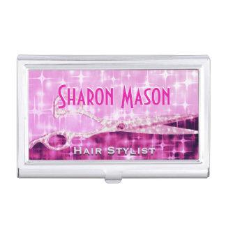 Glitter Glam Pink Sparkle Hairstylist Card Case