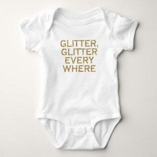 Glitter glitter every where baby bodysuit