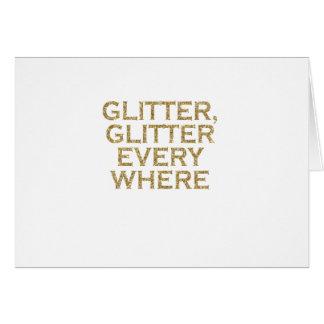 glitter glitter every where card