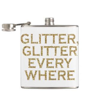 Glitter glitter every where hip flask
