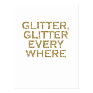 glitter glitter every where postcard