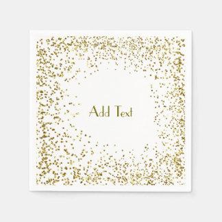 Glitter Gold Napkin Paper Napkin