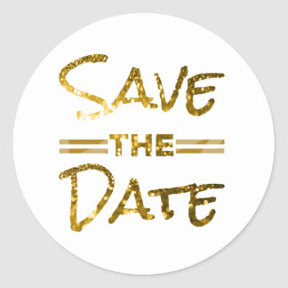 Glitter Gold Save the Date Seal