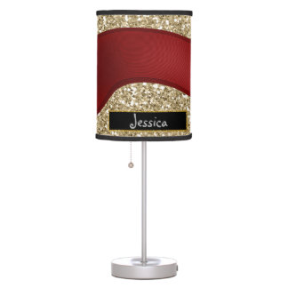 Glitter gold table lamp