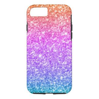 Glitter Gradient Print-Blue Pink & Amber iPhone 7 Case