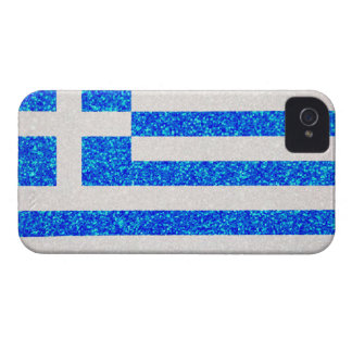 Glitter Greece flag iphone4 case