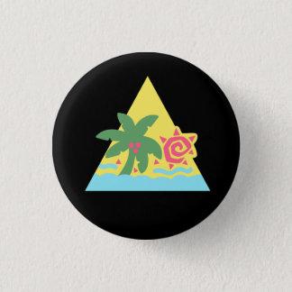Glitter Hair Flair Badge [Classic] 1 Inch Round Button