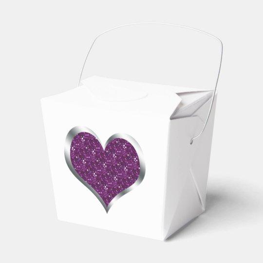 Glitter Heart Wedding Favour Christmas Gift Box